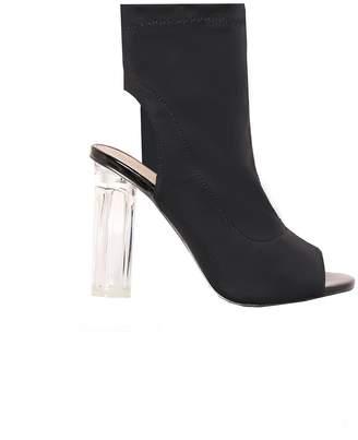 46f5b1400c5 Missy Empire Missyempire Jenna Black Peep Toe Perspex Heels