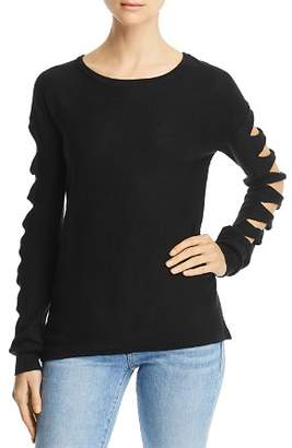 Aqua Cutout-Sleeve Sweater - 100% Exclusive