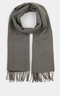 Barneys New York Men's Double-Faced Cashmere Scarf - Turquoise