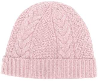 383bf4e8ab5 Pink Cable Knit Hat - ShopStyle