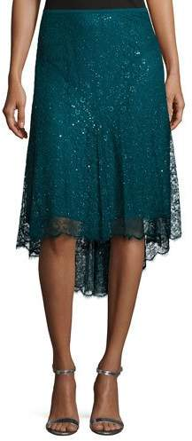 Michael Kors Chantilly Lace Asymmetric Skirt