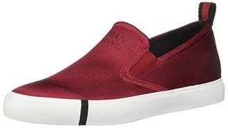 Armani Exchange A|X Women's Shiny Satin Slip On Sneaker Walking Shoe