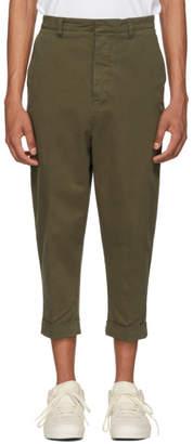 Ami Alexandre Mattiussi Green Oversized Carrot Trousers