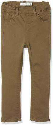 Name It Baby Girls' Nittinna Skinny TWI Legging F Mini Noos Trouser Green Burnt Olive 92