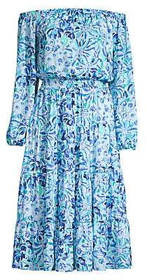 Lilly Pulitzer Women's Jennie Printed Off-The-Shoulder Midi Dress