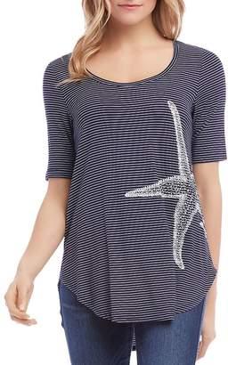 Karen Kane Striped Starfish Tee
