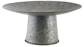 "Home Essentials and Beyond 8"" Galvanized Single Tier Cake Stand"