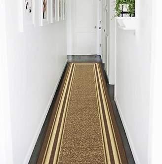 Ottomanson Ottohome Collection Contemporary Bordered Design Non-Skid Rubber Backing Hallway Runner Rug