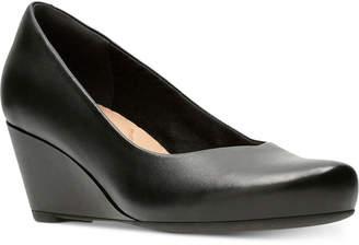 Clarks Collection Women's Flores Tulip Wedge Pumps Women's Shoes