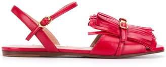 L'Autre Chose fringe sandal