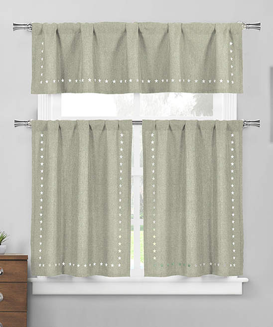 Sage Conor Valance & Curtain Panel Set