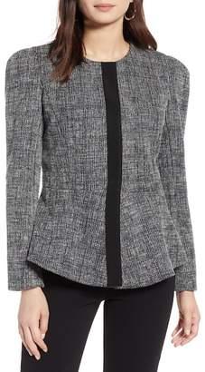 Halogen Tweed Peplum Jacket (Regular & Petite)