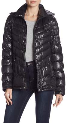 Kenneth Cole New York Quilted Packable Removable Hood Jacket