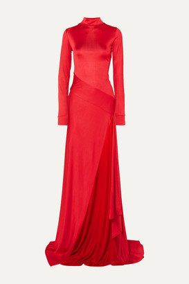 Michael Lo Sordo Empire Asymmetric Stretch-jersey Maxi Dress - Red