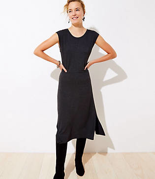 LOFT Cap Sleeve Midi Dress