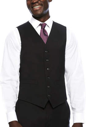 STAFFORD Stafford Travel Wool Blend Stretch Suit Vests-Classic Fit