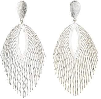 Josie Natori Silver Plated Brass Fringe Earrings