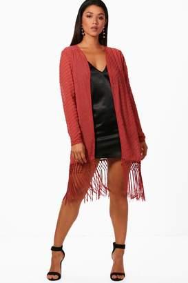 boohoo Emma Boutique Beaded Tassel Kimono