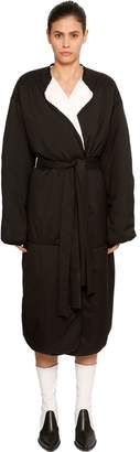 Givenchy Long Padded Coat W/ Side Slits
