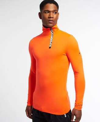 Superdry Gym Sport Runner High Neck Henley Top