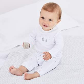The White Company Snowy Mock Top Sleepsuit