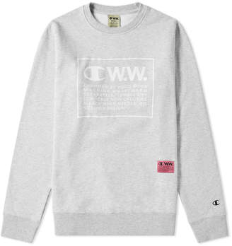 Wood Wood Champion X Champion x Box Logo Crew Sweat