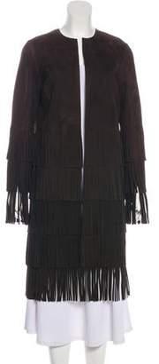 Michael Kors Fringed Leather Coat w/ Tags