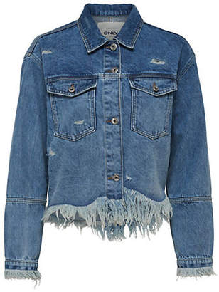 Only Riely Distressed Denim Jacket