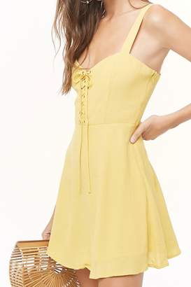 Forever 21 Lace-Up Cami Dress