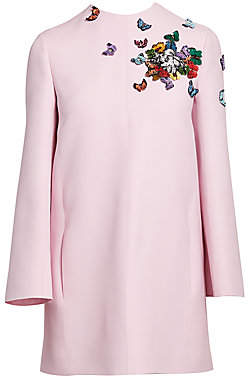 Valentino Women's Crepe Couture Butterfly Appliqué Dress