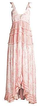 Rococo Sand Women's V-Neck Sleeveless Ruffle Dress