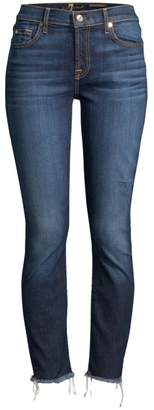 7 For All Mankind Roxanne Frayed Hem Ankle Jeans