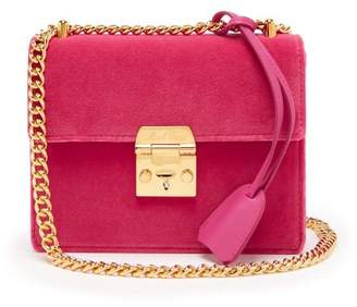 Mark Cross Zelda Velvet Bag - Womens - Pink