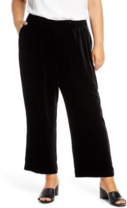 Eileen Fisher Wide Velvet Ankle Pants
