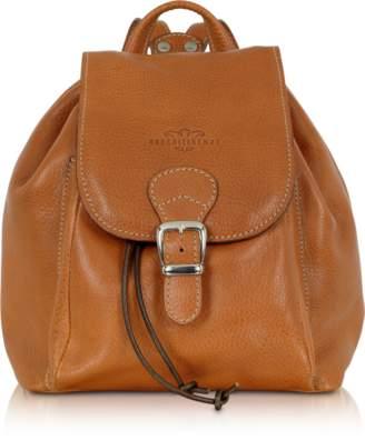 Robe Di Firenze Camel Italian Leather Backpack