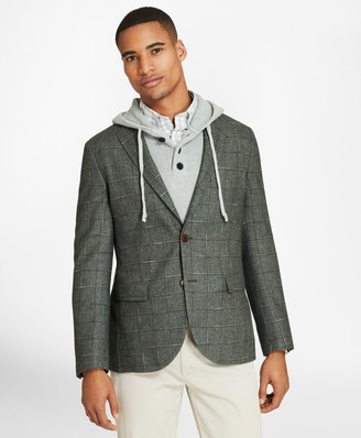 Brooks Brothers Windowpane Two-Button Wool-Blend Sport Coat