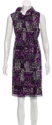 Anna Sui Wool Printed Dress