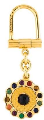 Judith Leiber Stone Embellished Keychain