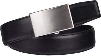 EXACT FIT Exact Fit Men's Belt with Plaque Buckle