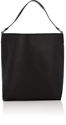 Barneys New York WOMEN'S ANN COLORBLOCKED FAUX-LEATHER HOBO BAG - BLACK PAT.