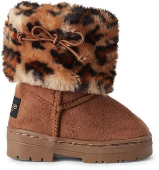 Bebe Girls (Toddler/Kids Girls) Cognac Leopard Tall Boots