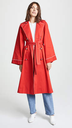 Nina Ricci Red Trench Coat