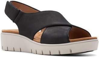 0c66948a816 Clarks Black Slingback Women s Sandals - ShopStyle