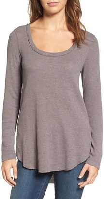 Women's Hinge Shirred Back Thermal Tee $49 thestylecure.com