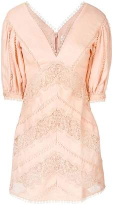 Zimmermann embroidered v-neck dress