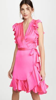 7 For All Mankind Sleeveless Ruffle Wrap Dress