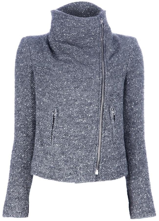 IRO 'Alex' knit biker jacket