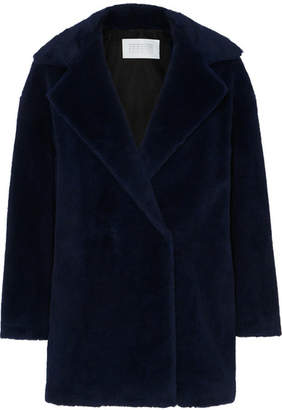 Harris Wharf London Double-breasted Alpaca-blend Coat - Navy