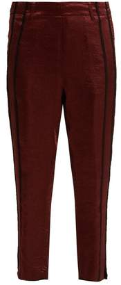 Ann Demeulemeester Lambeth Satin Trousers - Womens - Burgundy