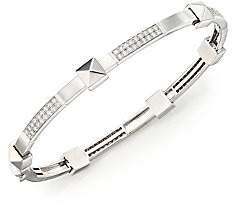 Marli Women's Pyramide Diamond & 18K White Gold Boheme Oval Bangle Bracelet